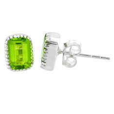 2.99cts natural green peridot 925 sterling silver stud earrings jewelry t22233