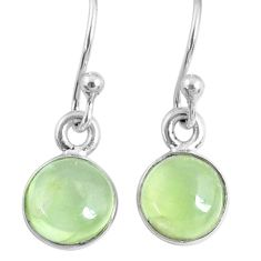4.59cts natural green prehnite 925 sterling silver dangle earrings r60682