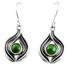 2.64cts natural green ruby zoisite 925 sterling silver dangle earrings r35167