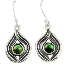 1.88cts natural green ruby zoisite 925 sterling silver dangle earrings r42061