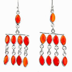 16.73cts natural honey onyx 925 sterling silver dangle earrings jewelry d39912