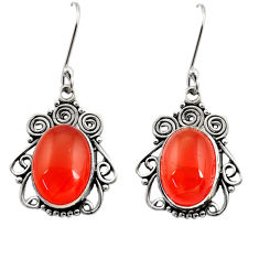 11.89cts natural honey onyx 925 sterling silver dangle earrings jewelry d41202