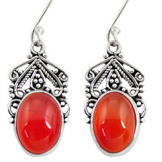 Clearance Sale- 12.31cts natural honey onyx 925 sterling silver dangle earrings jewelry d41208