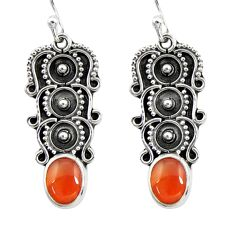 4.47cts natural honey onyx 925 sterling silver dangle earrings jewelry d41209