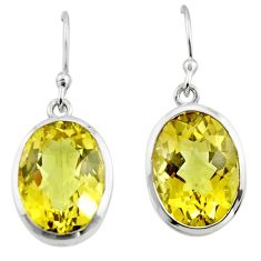11.81cts natural lemon topaz 925 sterling silver dangle earrings jewelry r45466