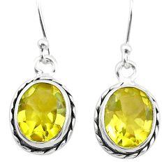 6.53cts natural lemon topaz 925 sterling silver dangle earrings jewelry t24029