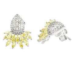 Natural lemon topaz topaz 925 sterling silver earrings jewelry c20172