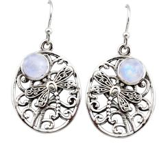 2.62cts natural moonstone 925 sterling silver butterfly earrings jewelry r44974