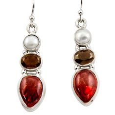 13.68cts natural multicolor ammolite canadian 925 silver dangle earrings r42953