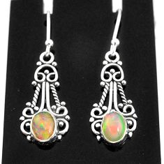 3.01cts natural orange ethiopian opal 925 sterling silver earrings jewelry t4002