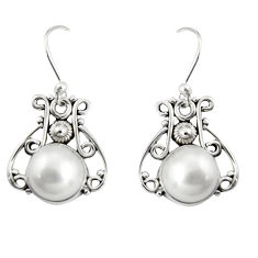 5.63cts natural pearl 925 sterling silver dangle earrings jewelry r19894