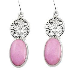 Natural phosphosiderite (hope stone) 925 silver tree of life earrings r45285
