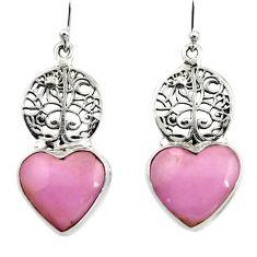 Natural phosphosiderite (hope stone) 925 silver tree of life earrings r45291