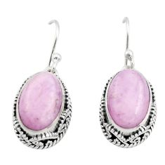 8.23cts natural pink kunzite 925 sterling silver dangle earrings jewelry r21920
