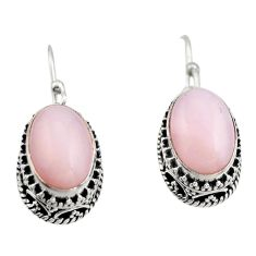 8.03cts natural pink opal 925 sterling silver earrings jewelry r21925