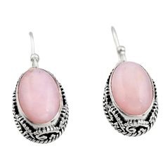 7.78cts natural pink opal 925 sterling silver earrings jewelry r21926