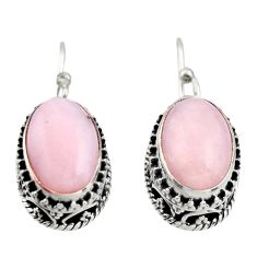 8.27cts natural pink opal 925 sterling silver earrings jewelry r21928
