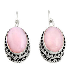 8.20cts natural pink opal 925 sterling silver earrings jewelry r21929