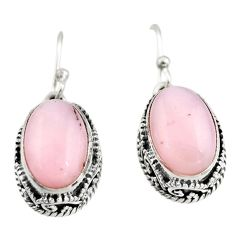 7.78cts natural pink opal 925 sterling silver earrings jewelry r21930