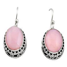8.27cts natural pink opal 925 sterling silver earrings jewelry r21933