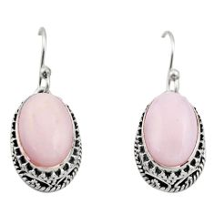 8.27cts natural pink opal 925 sterling silver earrings jewelry r21934
