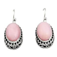 8.44cts natural pink opal 925 sterling silver earrings jewelry r21937