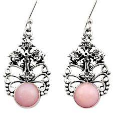 6.32cts natural pink opal 925 sterling silver holy cross earrings jewelry d40774