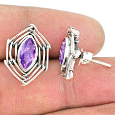 5.06cts natural purple amethyst 925 sterling silver earrings jewelry r67905