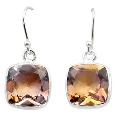 15.10cts natural purple ametrine 925 sterling silver dangle earrings t45183