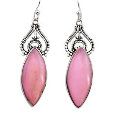 16.02cts natural purple phosphosiderite (hope stone) 925 silver earrings r30451