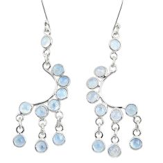 10.82cts natural rainbow moonstone 925 silver chandelier earrings d39815