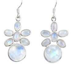 15.90cts natural rainbow moonstone 925 silver chandelier earrings d39836