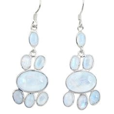 16.28cts natural rainbow moonstone 925 silver chandelier earrings d39837
