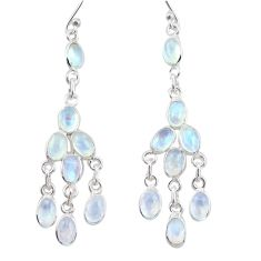 13.15cts natural rainbow moonstone 925 silver chandelier earrings jewelry r38678