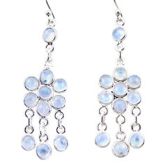 13.15cts natural rainbow moonstone 925 silver chandelier earrings r35616