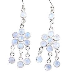 13.10cts natural rainbow moonstone 925 silver chandelier earrings r35617
