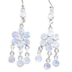 13.17cts natural rainbow moonstone 925 silver chandelier earrings r35620