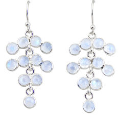 10.08cts natural rainbow moonstone 925 silver chandelier earrings r35635