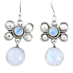 9.61cts natural rainbow moonstone 925 sterling silver butterfly earrings r74809