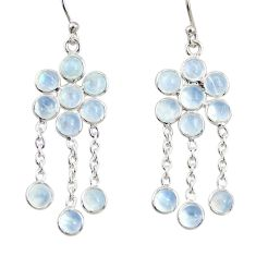 9.18cts natural rainbow moonstone 925 sterling silver chandelier earrings r33505