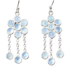 9.72cts natural rainbow moonstone 925 sterling silver chandelier earrings r33509