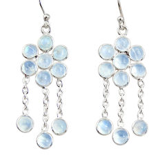 9.57cts natural rainbow moonstone 925 sterling silver chandelier earrings r33514