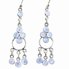 9.25cts natural rainbow moonstone 925 sterling silver chandelier earrings r35676