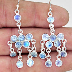 8.35cts natural rainbow moonstone 925 sterling silver chandelier earrings r45052