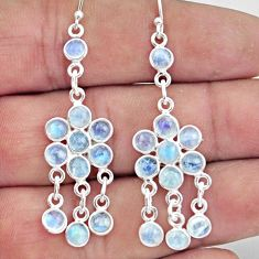 8.57cts natural rainbow moonstone 925 sterling silver chandelier earrings r45056