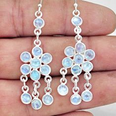 8.52cts natural rainbow moonstone 925 sterling silver chandelier earrings r45057