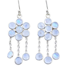 10.14cts natural rainbow moonstone 925 sterling silver chandelier earrings t4658
