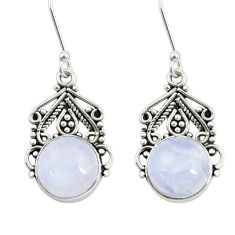 Clearance Sale- 10.77cts natural rainbow moonstone 925 sterling silver dangle earrings d41005