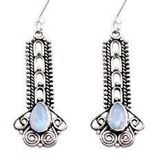 rainbow moonstone 925 sterling silver dangle earrings d41057