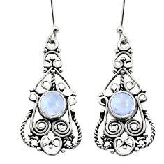 rainbow moonstone 925 sterling silver dangle earrings d41074